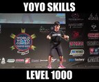 Best Yoyo skills by young kid (level 1000)