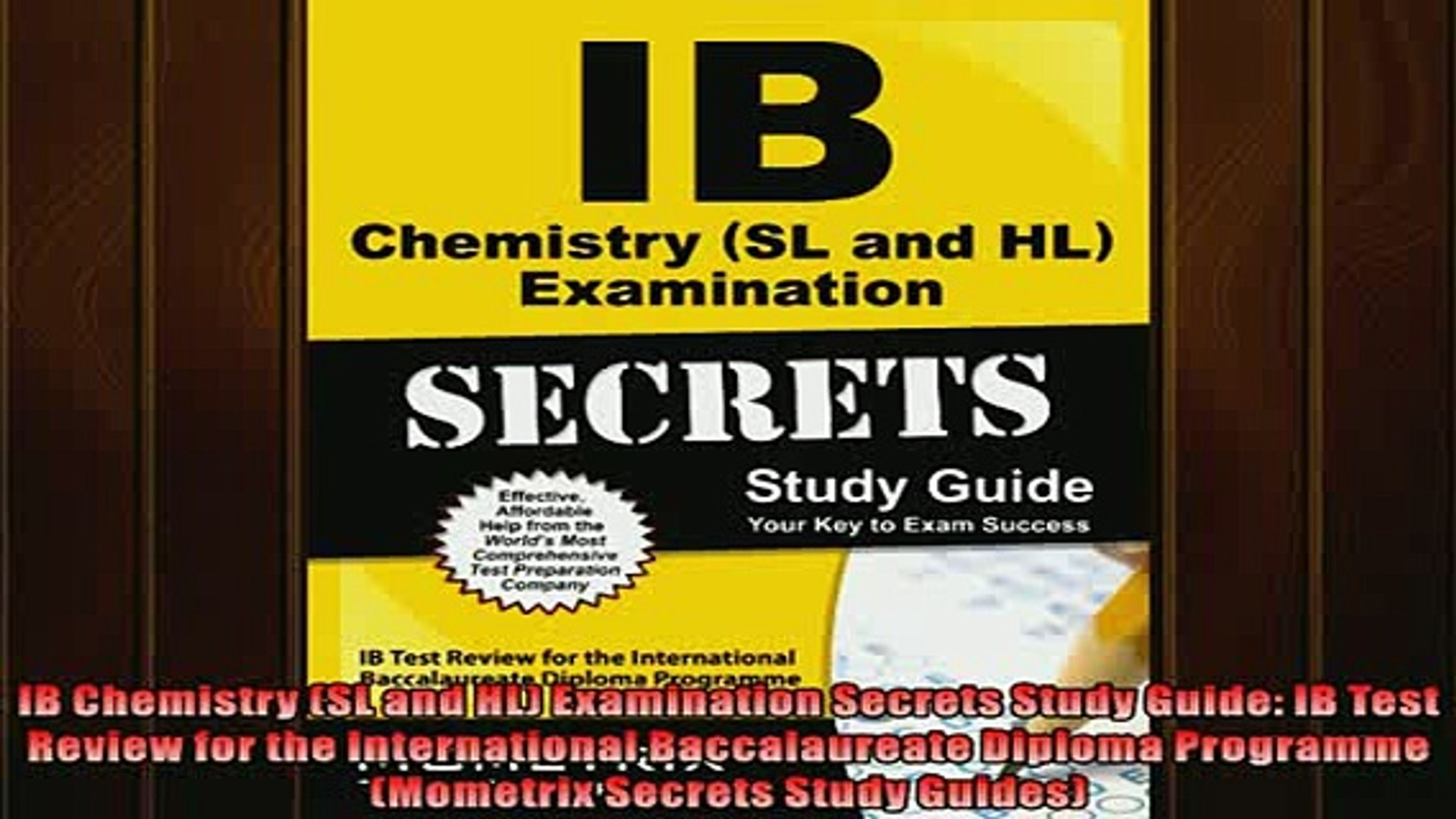 FREE DOWNLOAD IB Chemistry SL and HL Examination Secrets Study Guide IB  Test Review for the BOOK ONLINE