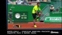 Monte-Carlo : Stanislas Wawrinka fracasse sa raquette face à Rafael Nadal (vidéo)