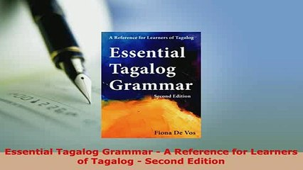 tagalog conjugations a reference guide second edition
