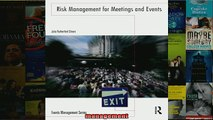 FREE PDF  Risk Management for Meetings and Events Events Management  DOWNLOAD ONLINE