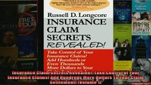 FREE PDF  Insurance Claim Secrets Revealed Take Control of Your Insurance Claims Add Hundreds  DOWNLOAD ONLINE