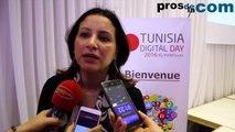 Mme Ines Nasri lors de la conférence de presse de Tunisia Digital Day 2016 par Prosdelacom !