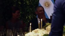 President Obama dancing  at the Argentina State Dinner