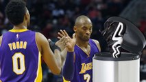 Kobe Bryant Throws Away Nick Young's Adidas Shoes