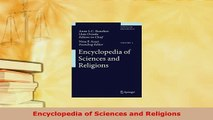 PDF  Encyclopedia of Sciences and Religions Read Online