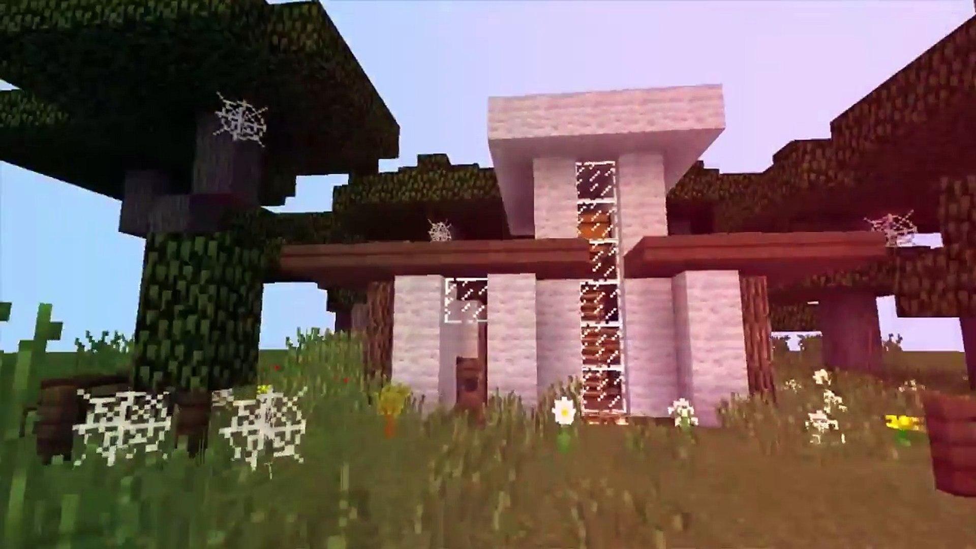 Компактный модерн дом, для выживания в майнкрафте. The best modern house for surviving in minecraft.