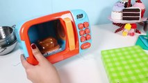 Just Like Home Microwave Oven Toy Kitchen Set Cooking Playset Toy Food Toy Cutting Food Part 3