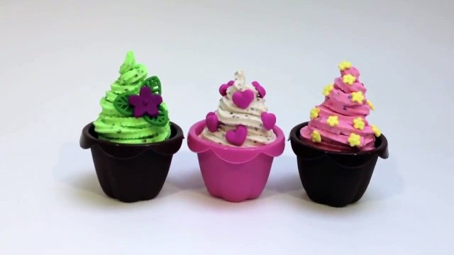 Play Doh Cupcakes Recipe How to make Cupcakes Playdough Mint Chocolate Ice Cream Recipe Part 8