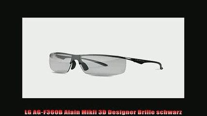 BESTE PRODUKT Zum Kaufen  LG AGF360B Alain Mikli 3D Designer Brille schwarz