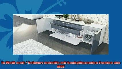 BESTE PRODUKT Zum Kaufen  Sideboard Kommode Triest in Weiß matt  Schwarz metallic Hochglanz