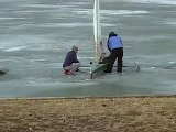 Ice Yachting Ice Boat Sailing Ohio Columbus Delaware Alum Creek gull ice winter 2014