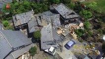Les images du tremblement de terre au Japon vues de Drone - Avril 2016