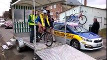Boucles Cyclistes Sud-Avesnois : Alexys Brunel au départ du chrono