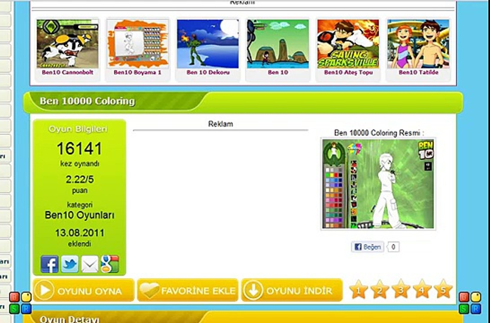Ben 10000 Coloring Video Dailymotion