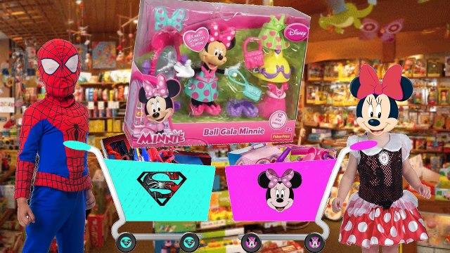 КЭТИ и МАКС ВЛОГ Шопинг Игрушки  Минни Маус  Человек паук  VLOG Shopping toys Катя