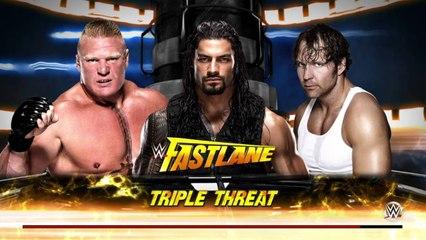 Brock Lesnar Vs Roman Reigns Vs Dean Ambrose Fastlane Real-Time Review