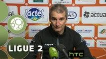 Conférence de presse Stade Lavallois - Evian TG FC (2-1) : Denis ZANKO (LAVAL) - Romain REVELLI (EVIAN) - 2015/2016