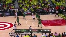 Celtics 6 Three-Pointer in 4 Qtr   Celtics vs Hawks   Game 1   April 16, 2016   NBA Playoffs 2016