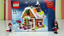 Lego Friends Build Christmas Gingerbread House Set Build Review Play - Kids Toys
