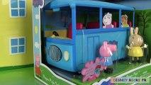 Peppa Pig School Bus Autobus scolaire Ecole Melle Lapin Miss Rabbit Jouets de Peppa
