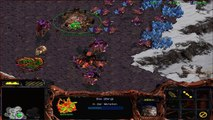 StarCraft Brood War - Protoss vs 7 Random Computer - Map