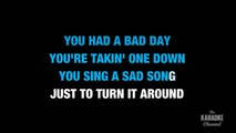 Bad Day in the Style of Daniel Powter with lyrics (no lead vocal)
