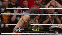 Asuka celebrates winning the NXT Women's Title from Bayley  NXT TakeOver  Dallas on WWE Network