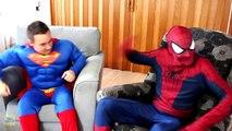 Spiderman vs Superman vs Venom in Real Life! Spiderman & Superman Battle Venom Superhero Movie! [HD, 720p]
