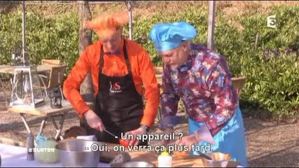 A'Gueter : filet de skreï à la plancha sur minestrone et morilles farcies