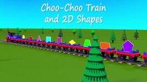 Shapes for kids kindergarten toddlers preschoolers. Shape train. Choo-Choo and 2D shapes.
