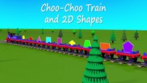 Shapes for kids kindergarten toddlers preschoolers. Shape train. Choo-Choo and 2D shapes.