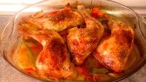 POLLO AL HORNO CON VERDURAS - recetas de cocina faciles rapidas y ricas de hacer saludables