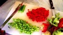 Cutting Peppers w/4'' fingernails!!!!