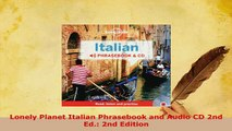 Lonely Planet Italian Phrasebook and Audio CD 2nd Ed. 2nd Edition