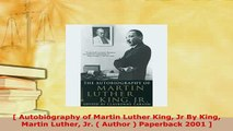 PDF   Autobiography of Martin Luther King Jr By King Martin Luther Jr  Author  Paperback PDF Full Ebook