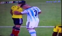 Funny Colombian Player scares his opponent Argentina vs Colombia Sudamericano Sub 20 29 01