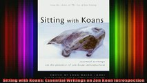 Read  Sitting with Koans Essential Writings on Zen Koan Introspection  Full EBook