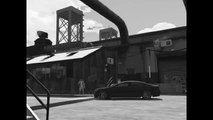 GTA V in Black and White. White Water Rafting. No Raft.