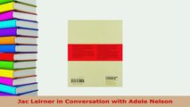 PDF  Jac Leirner in Conversation with Adele Nelson Download Full Ebook