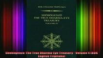 Read  Shobogenzo The True DharmaEye Treasury  Volume 4 BDK English Tripitaka  Full EBook