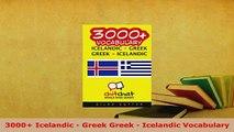 PDF  3000 Icelandic  Greek Greek  Icelandic Vocabulary Read Online