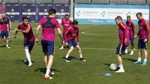 FC Barcelona training session: Attention turns to Riazor