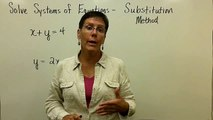 47 - Introductory Algebra - Solving Systems of Equations Substitution