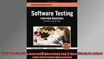 READ book  Software Testing Interview Questions Youll Most Likely Be Asked Job Interview Questions  DOWNLOAD ONLINE