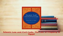 PDF  Islamic Law and Civil Code The Law of Property in Egypt Free Books