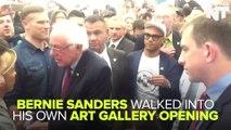 Bernie Sanders Attends Art Show All About Bernie Sanders
