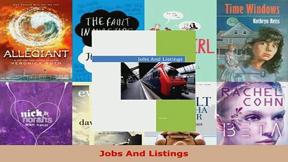 PDF  Jobs And Listings Read Full Ebook