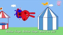 Peppa Pig Rabbit Spiderman Finger Family Nursery Rhymes Lyrics and More by Pig Tv video snippet
