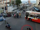Bike Self Accident Caught on CCTV Cam | Live Accidents in India | Tirupati Traffic Police